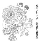 flowers coloring page. hand... | Shutterstock .eps vector #478793755
