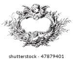 antique floral frame engraving  ...   Shutterstock .eps vector #47879401