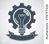 high quality vector light bulb... | Shutterstock .eps vector #478797418