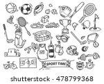 sport themed doodle | Shutterstock . vector #478799368