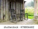 Rocking Chairs On The Porch Of...