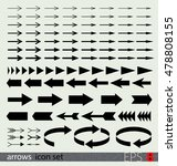 arrows icon set   Shutterstock .eps vector #478808155