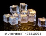 ice cubes colorful on a black... | Shutterstock . vector #478810036