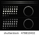 set of moon phases schemes ... | Shutterstock .eps vector #478810432
