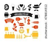oktoberfest beer festival. set... | Shutterstock .eps vector #478814512