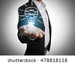 hands of business person... | Shutterstock . vector #478818118