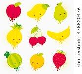 fruit cartoon of apple  mango ... | Shutterstock .eps vector #478820476