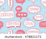cute speech bubble seamless... | Shutterstock . vector #478821172