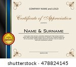 certificate of appreciation... | Shutterstock .eps vector #478824145