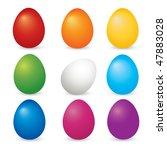 easter eggs set vector | Shutterstock . vector #47883028