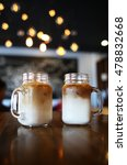 Two Iced Latte Coffees In Glass ...