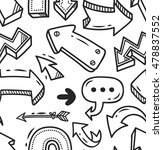 arrow doodle seamless background | Shutterstock . vector #478837552