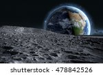 moon surface. the space view of ... | Shutterstock . vector #478842526