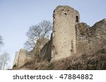 Ruins Of Ludlow Castle Tower...