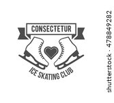 ice skate label logotype design.... | Shutterstock .eps vector #478849282