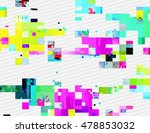 colorful glitched shapes.... | Shutterstock .eps vector #478853032
