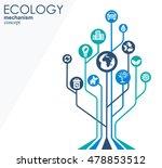 ecology mechanism concept.... | Shutterstock .eps vector #478853512