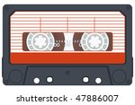 audio cassette on white... | Shutterstock .eps vector #47886007