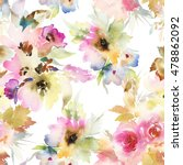 seamless pattern with flowers... | Shutterstock . vector #478862092