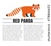 vector flat red panda. animal... | Shutterstock .eps vector #478866652