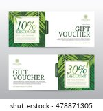 gift voucher template for spa ... | Shutterstock .eps vector #478871305