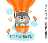 cute raccoon sailor in a... | Shutterstock .eps vector #478875712