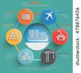 logistic cargo shipping info... | Shutterstock .eps vector #478876456