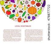 fresh fall vegetables set... | Shutterstock .eps vector #478877722