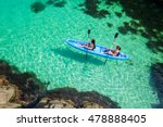 two young women kayaking in the ... | Shutterstock . vector #478888405
