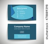 modern simple business card set ... | Shutterstock .eps vector #478889398