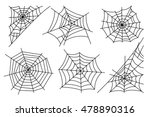 halloween spider web isolated... | Shutterstock .eps vector #478890316
