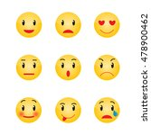 set of emoticons. set of emoji | Shutterstock .eps vector #478900462