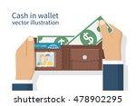 opened wallet in man hands...   Shutterstock .eps vector #478902295