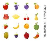vector juicy fruits collection...   Shutterstock .eps vector #478902322