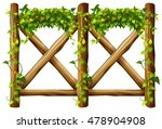 Fence Design With Wooden Fence...