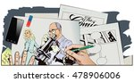 stock illustration. people in... | Shutterstock .eps vector #478906006