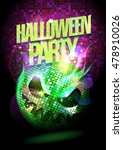 halloween party poster with... | Shutterstock .eps vector #478910026