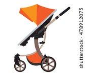 moder vector baby stroller with ... | Shutterstock .eps vector #478912075