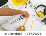 hand over construction plans... | Shutterstock . vector #478914016