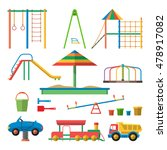 kids playground vector... | Shutterstock .eps vector #478917082