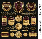 quality golden badges and... | Shutterstock .eps vector #478917706