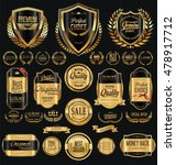 quality golden badges and... | Shutterstock .eps vector #478917712