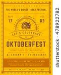 oktoberfest beer festival... | Shutterstock .eps vector #478922782