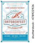 oktoberfest beer festival...   Shutterstock .eps vector #478922926