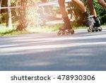 Rollerblading On Asphalt Road....
