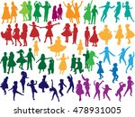 illustration with dancing child ...   Shutterstock .eps vector #478931005