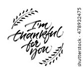 thanksgiving greeting card.... | Shutterstock . vector #478932475