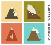 assembly flat icons mountains... | Shutterstock .eps vector #478933846