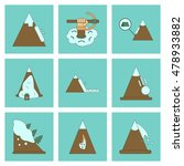 assembly flat icons mountains... | Shutterstock .eps vector #478933882