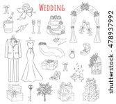 vector set of hand drawn... | Shutterstock .eps vector #478937992